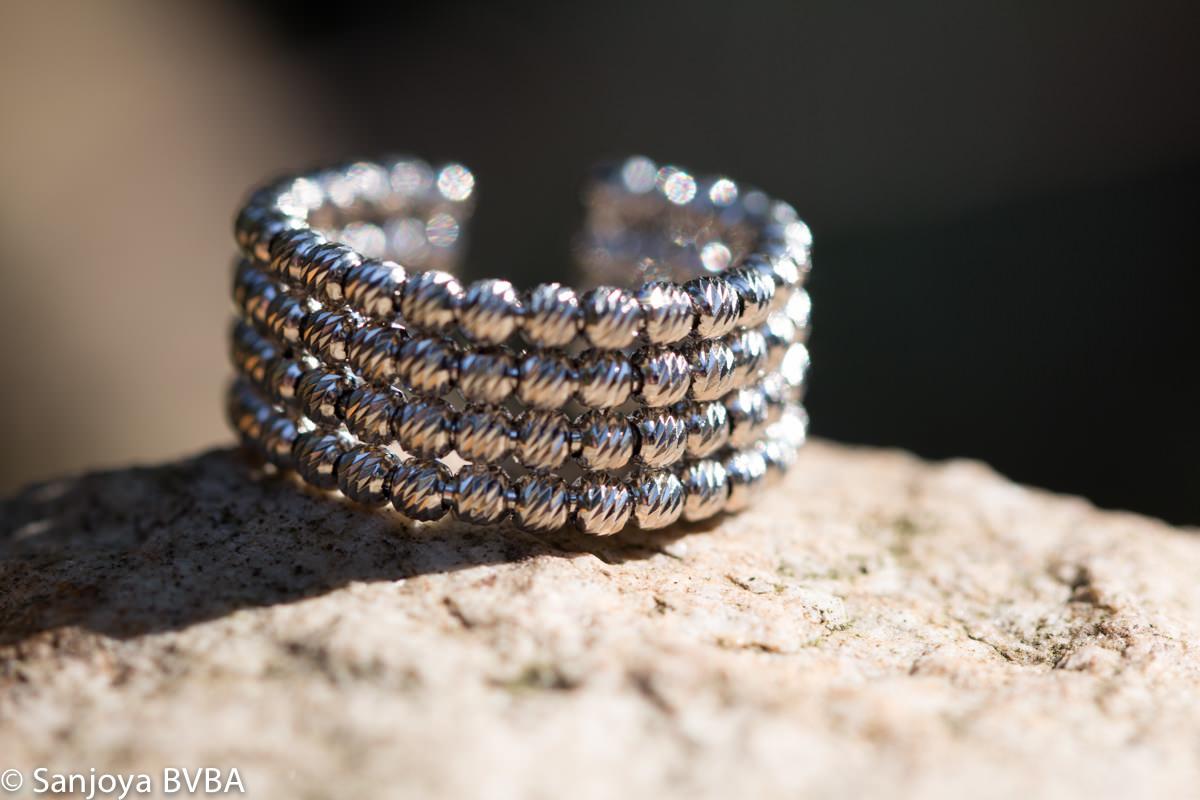 Italiaanse zilveren ring met 4 rijen, Italiaans ontwerp