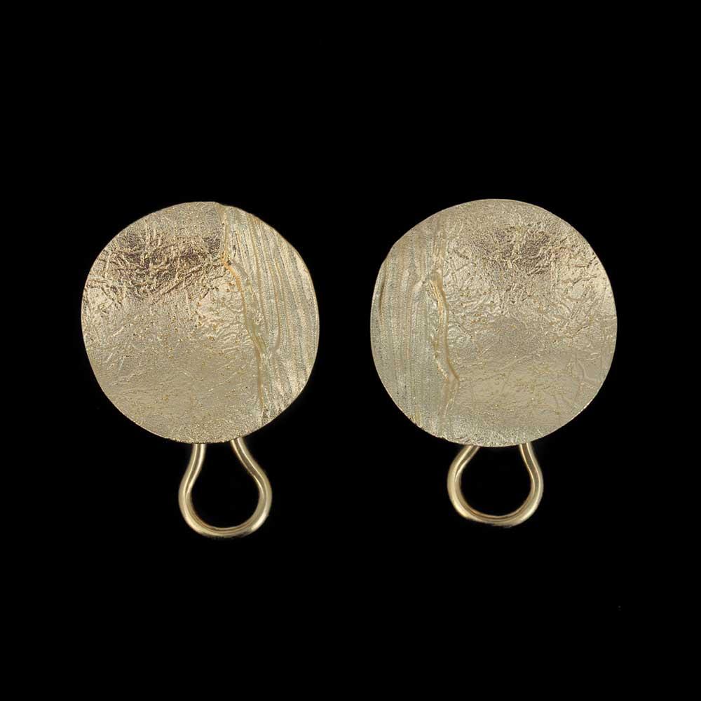 Vergulde, ronde en gediamanteerde oorbellen