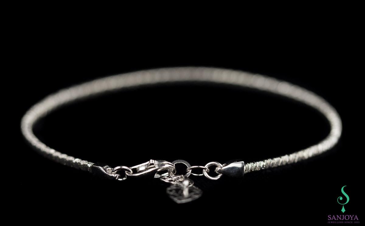 Verfijnde zilveren armband, 2mm