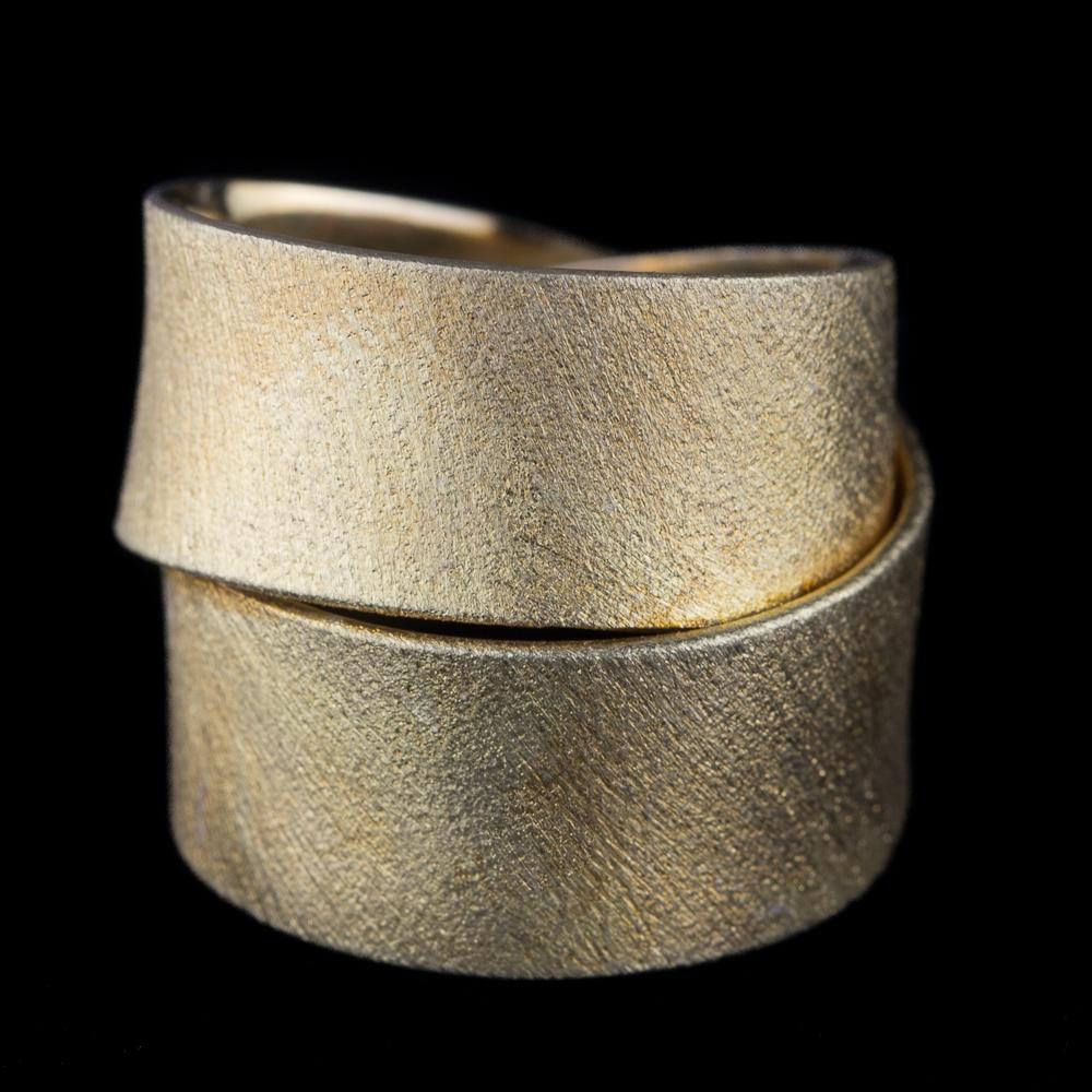 Vergulde ring met 2 rijen, Grieks design