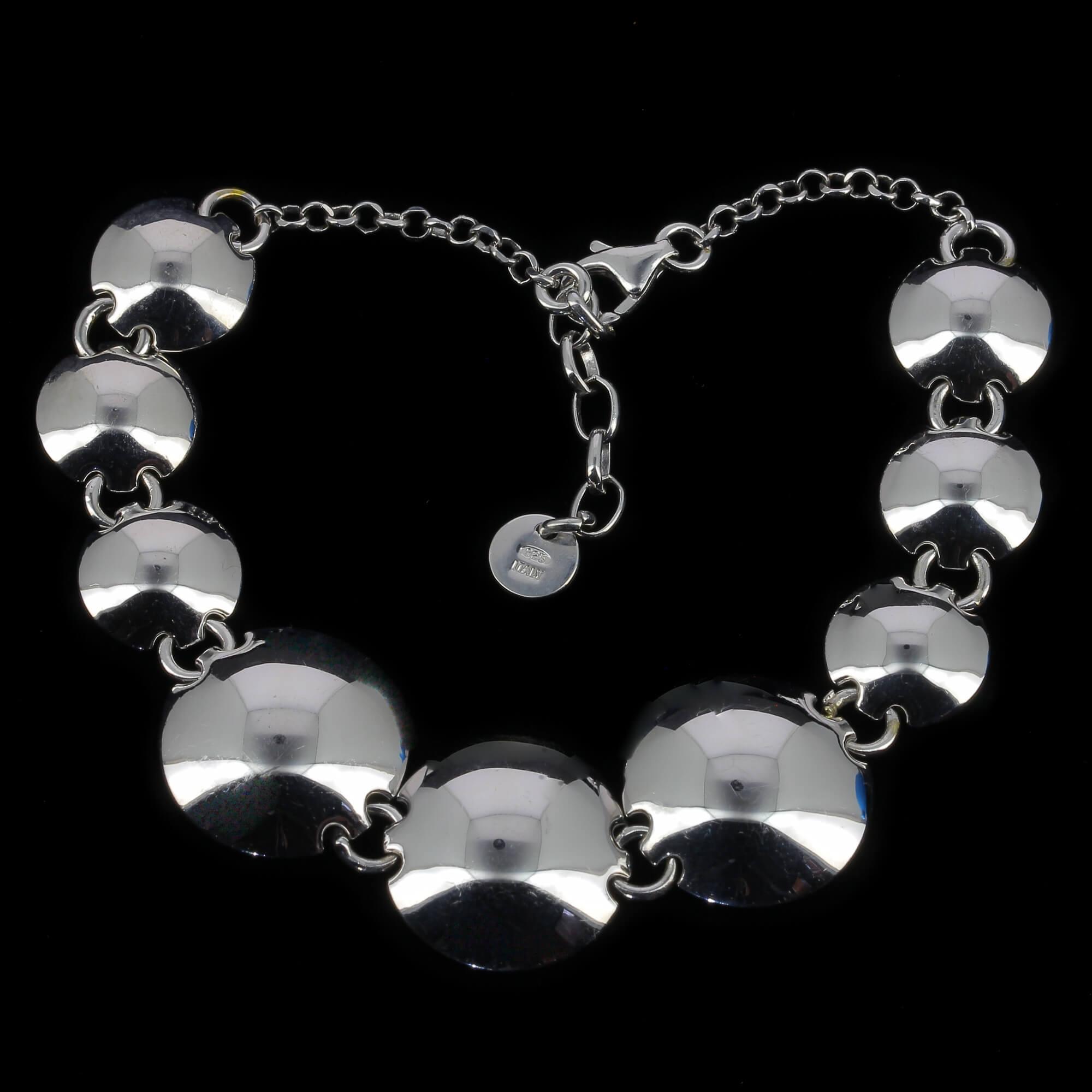Schitterende zilveren armband met bolletjes