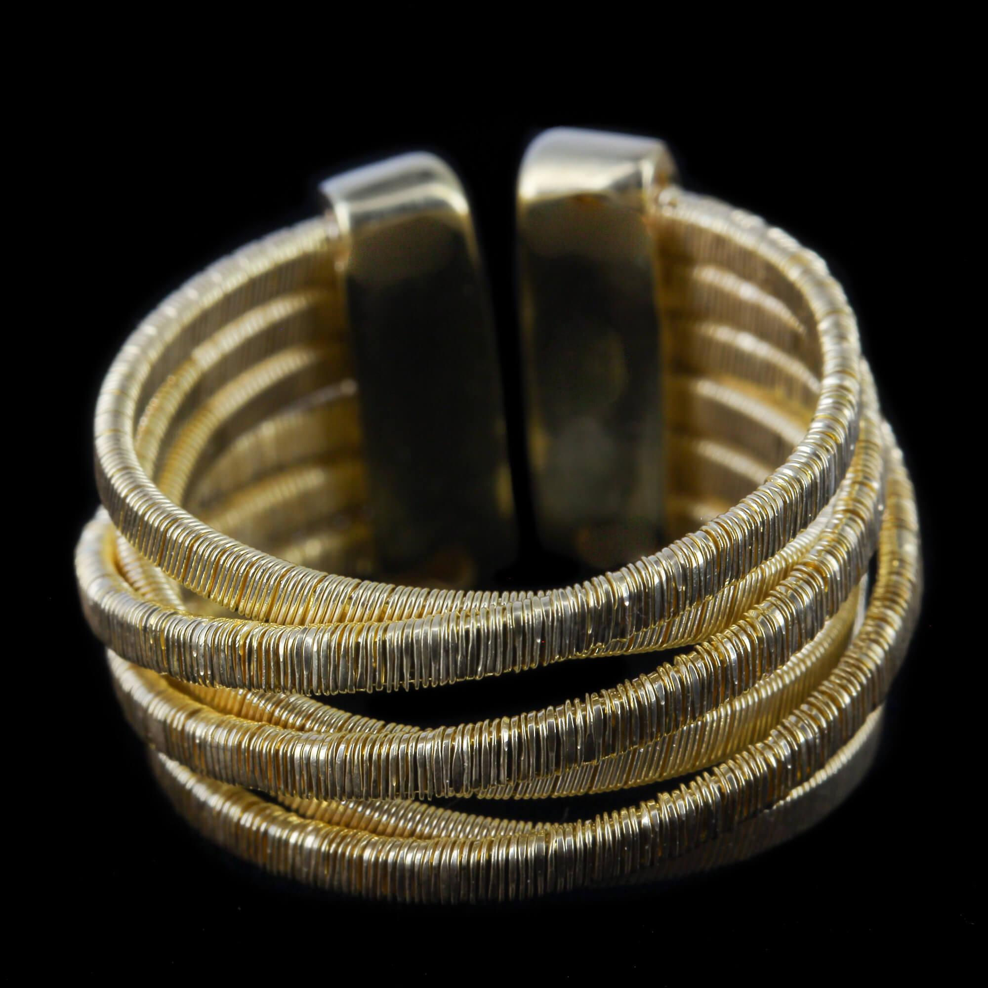 Vergulde meerdradige open ring