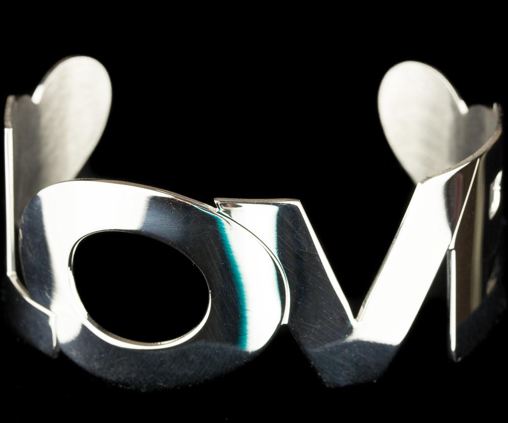 Zilveren LOVE armband