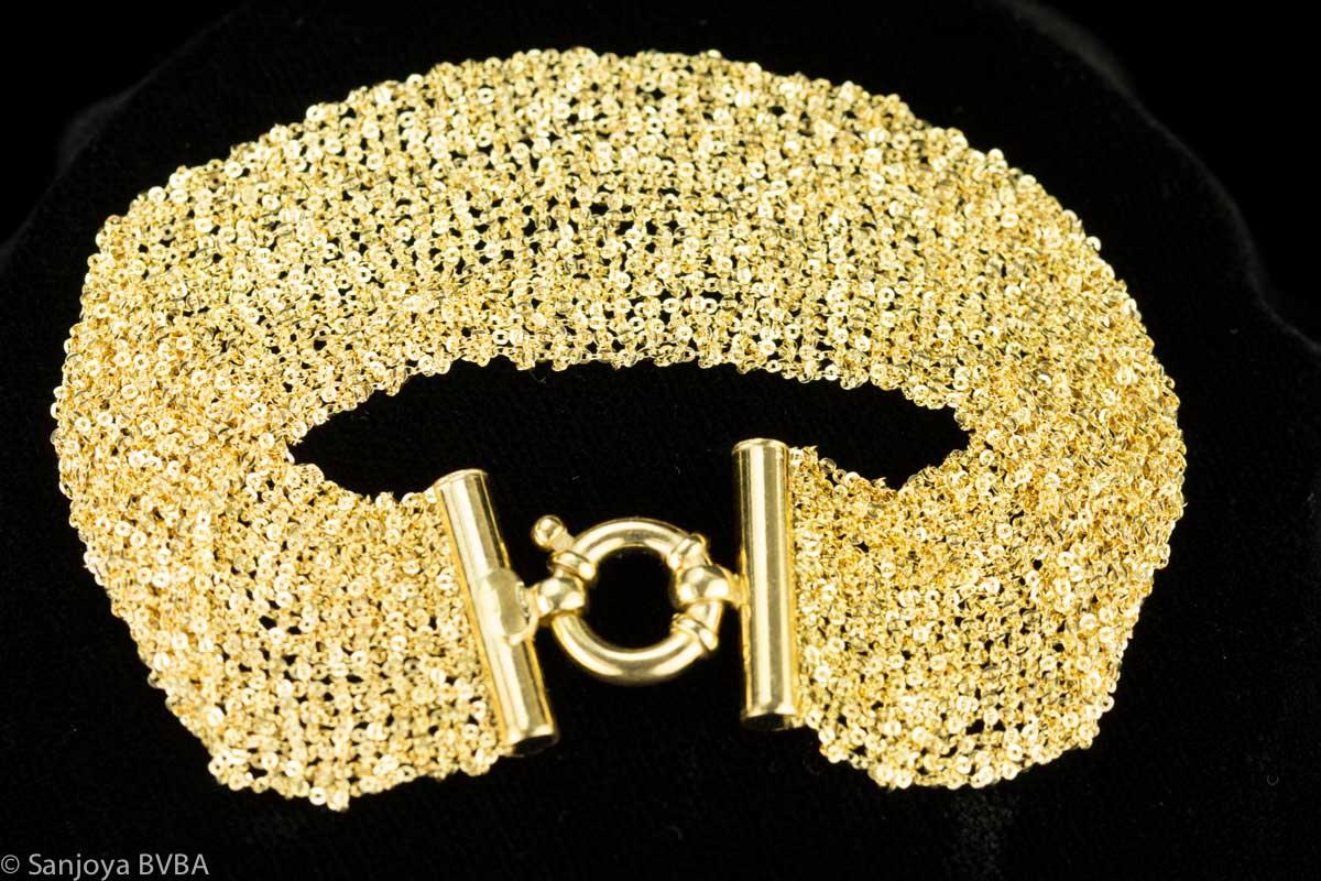 Vergulde armband van meerdere kettinkjes