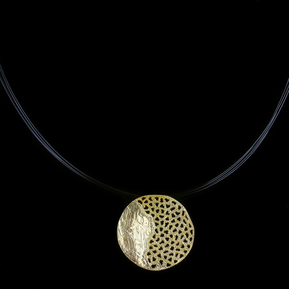Cirkelvormige hanger van 18kt goud