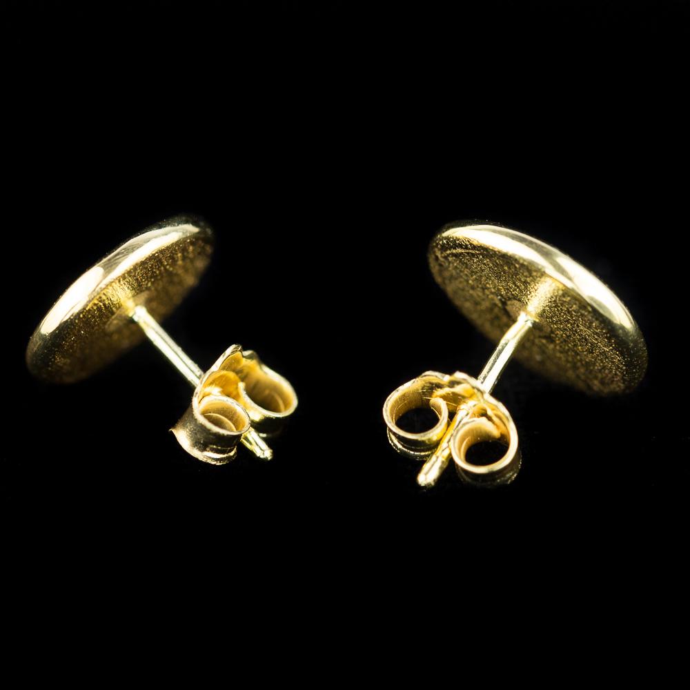 Vergulde oorbellen met glinstering