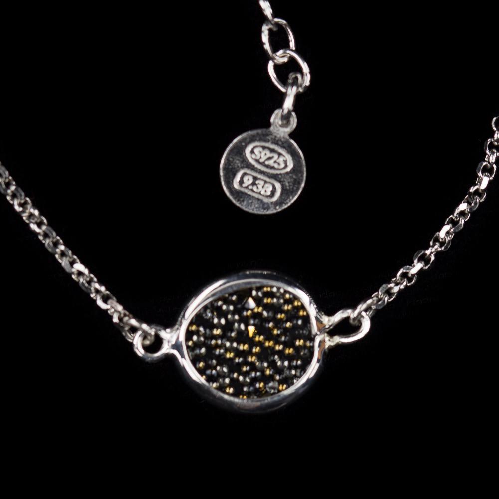 Armband van zilver en hematiet / kleine versie
