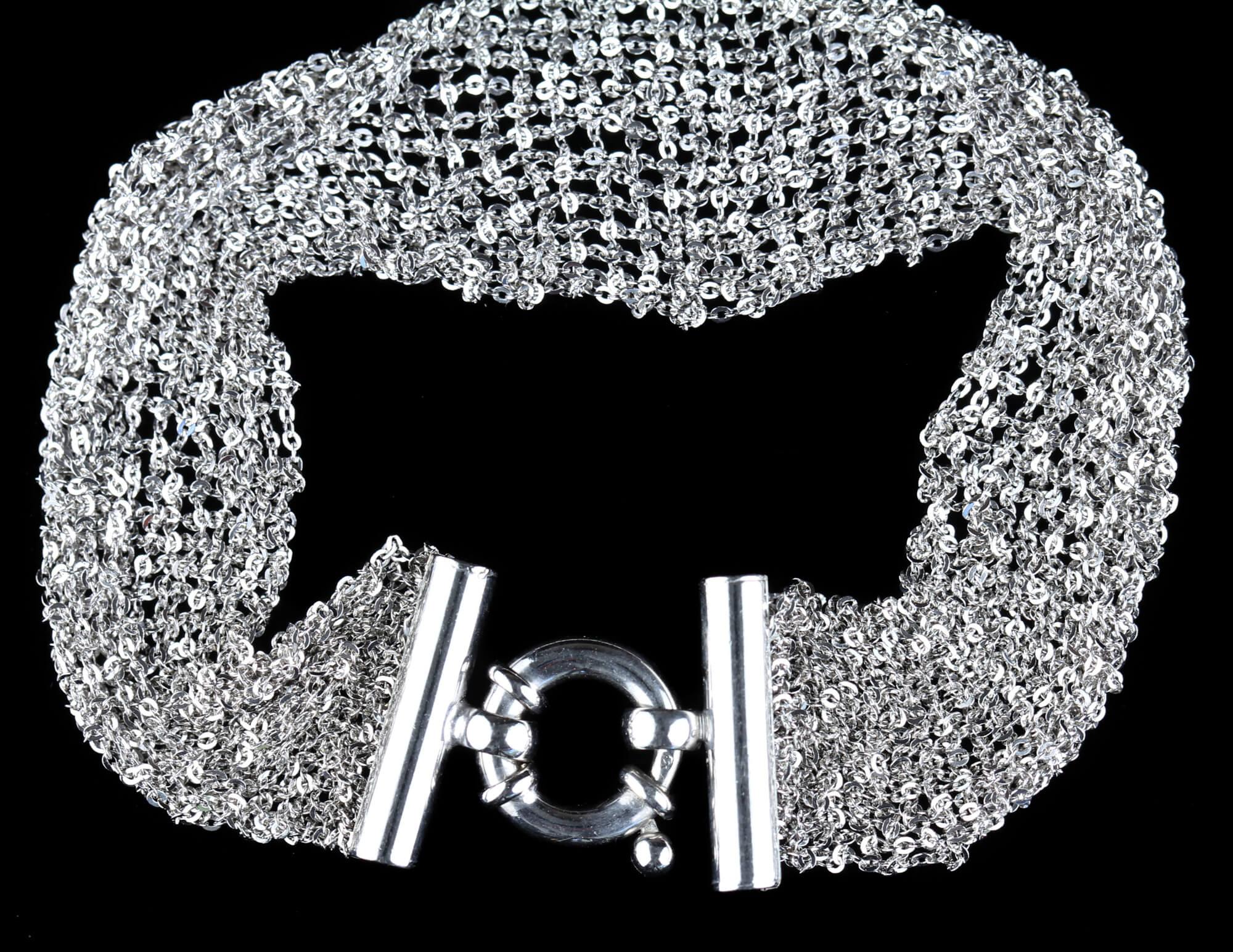 Zilveren armband van meerdere kettinkjes/smalle versie