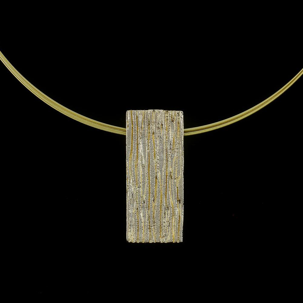 Vergulde rechthoekige schitterende hanger