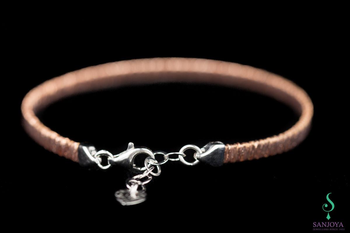 Verfijnde rosé armband van sterling zilver, 4mm