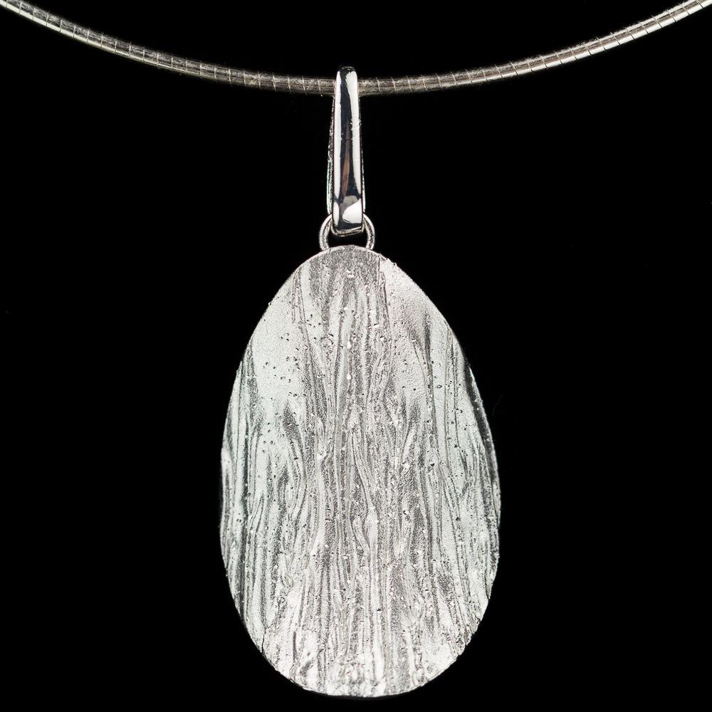 Gediamanteerde hanger van zilver 'met ketting'
