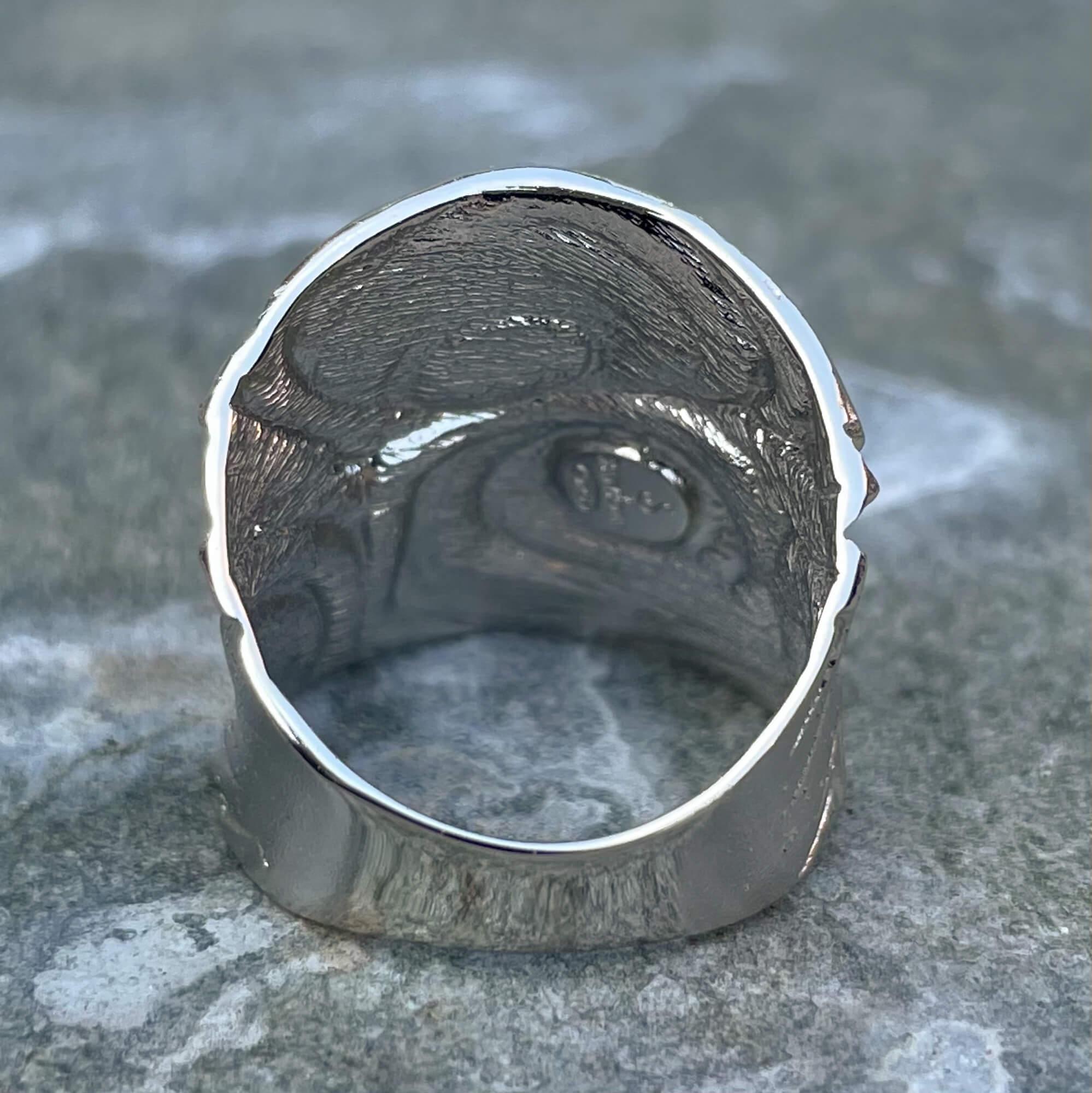 Bewerkte ring van sterling zilver