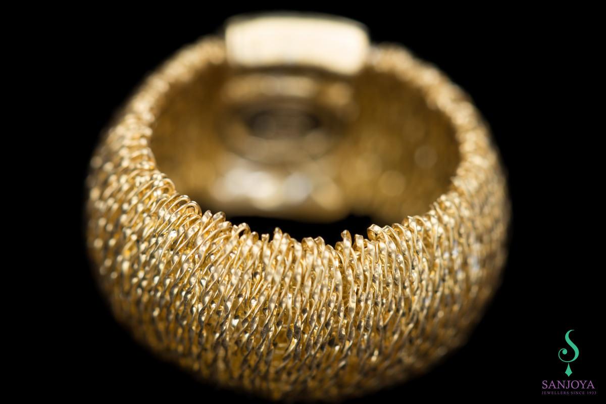 Vergulde flexible ring