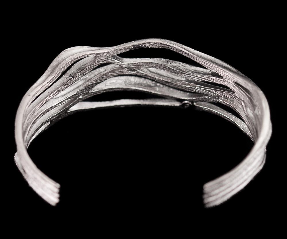 Magnifieke zilveren gediamanteerde armband