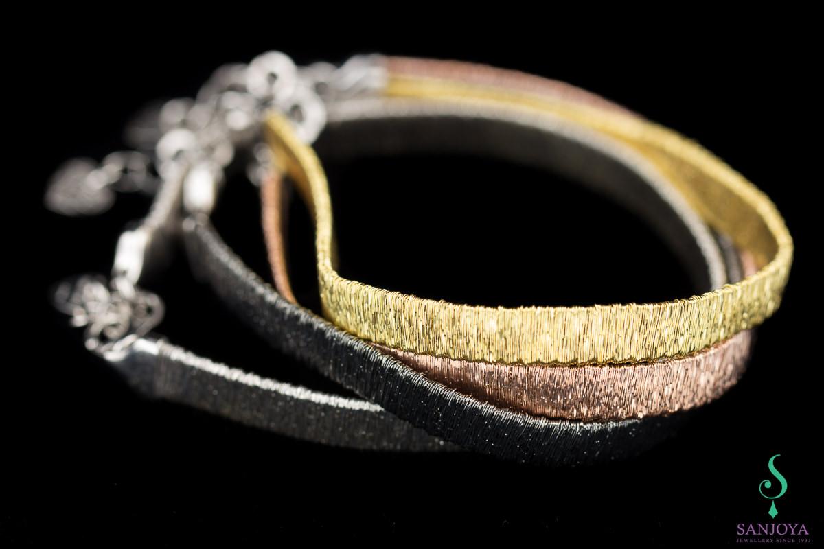 Verfijnde rosé armband van sterling zilver, 6mm