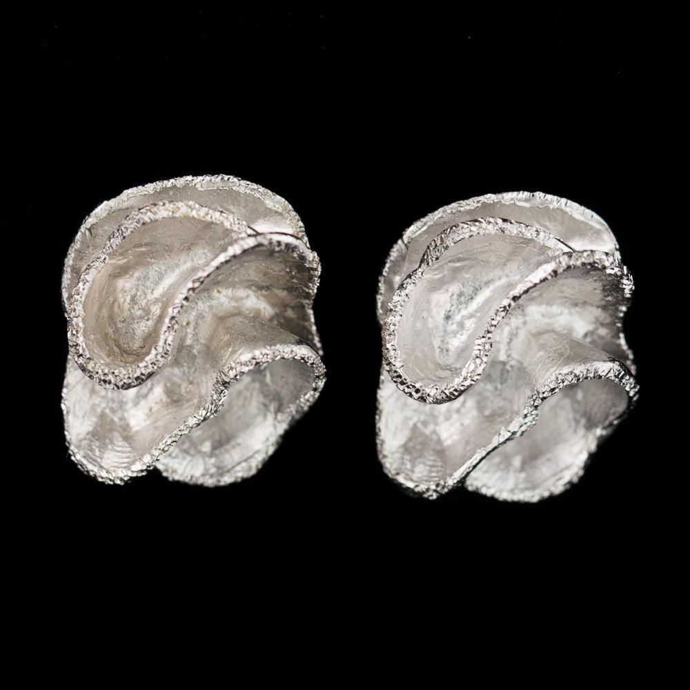 Zilveren schitterende bloemoorbellen