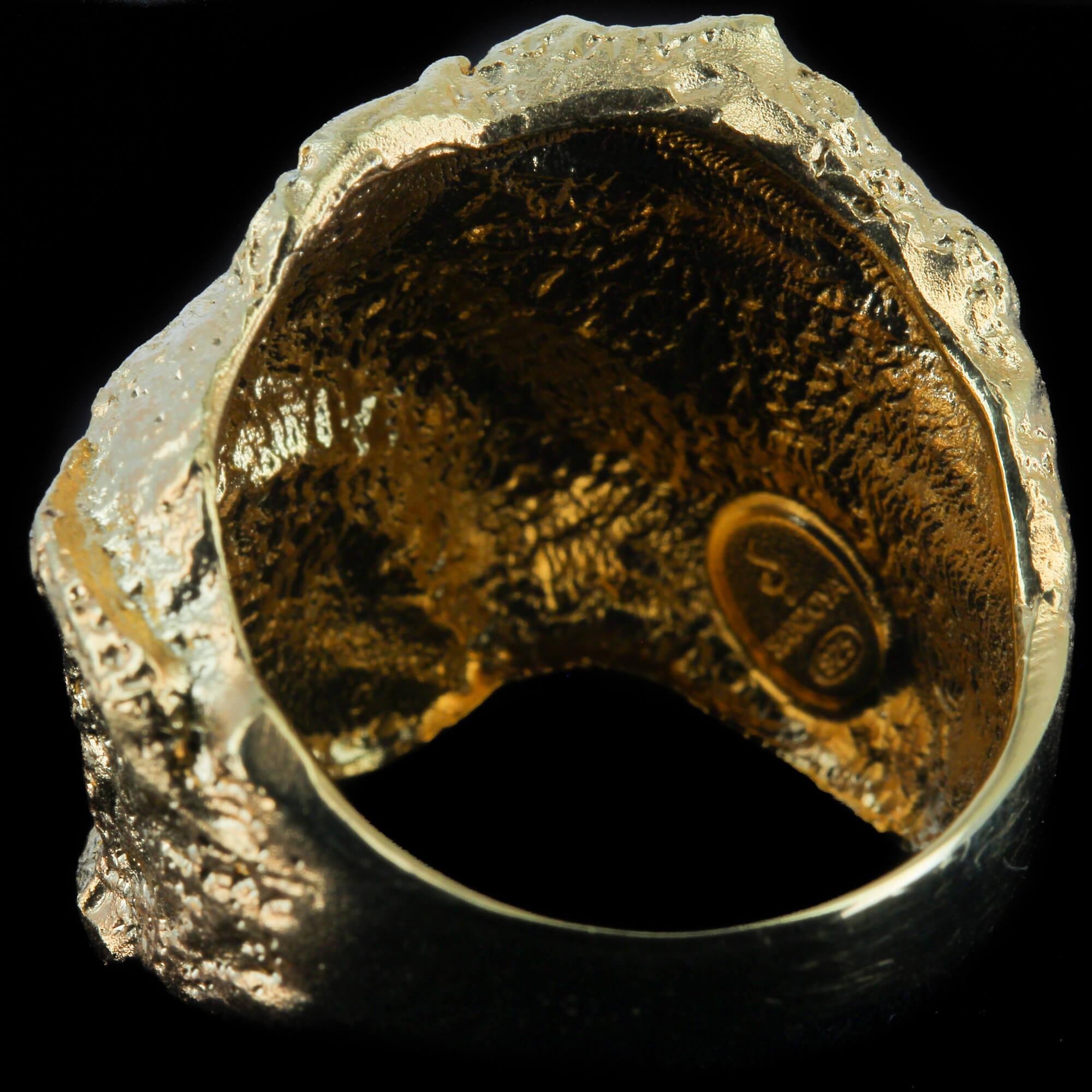 Schitterende steenvormige gouden ring, 18kt
