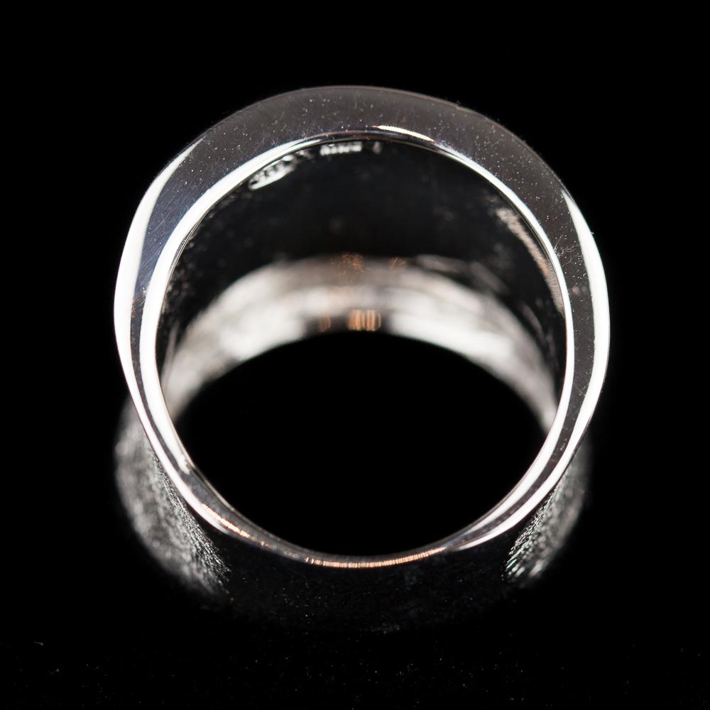 Zilveren matte Sanjoya ring